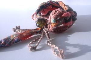 Woven Crochet + Cord Cuff + Linen Tassels