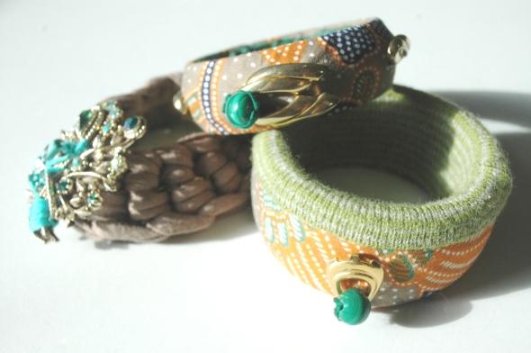 Bold Fabric print bangles, Fiona Szabo