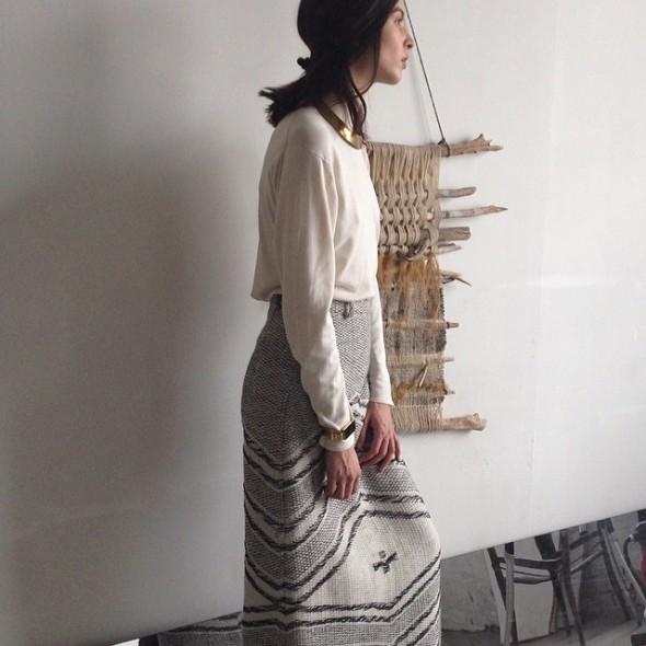 VOZ - Handwoven, Textile Skirt